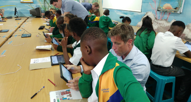 TWO STUDENTS FROM AALBORG TO IMPROVE MATH TEACHING IN SOUTH AFRICA